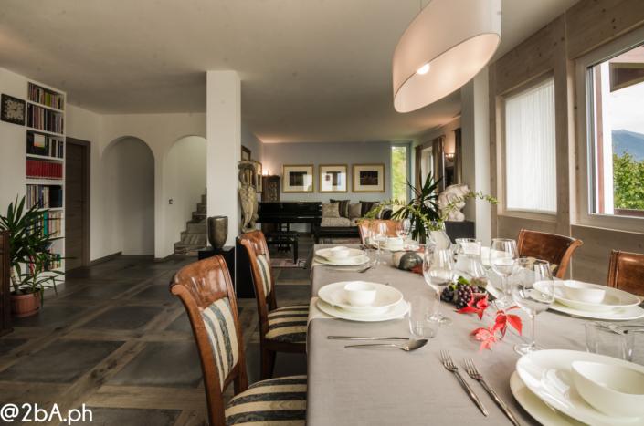 sala da pranzo home restaurant elegante home staging fotografia