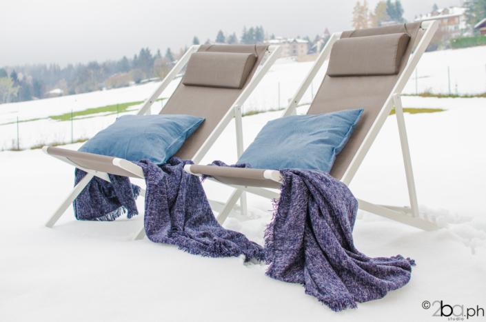 sdraio sulla neve vacanze inverno