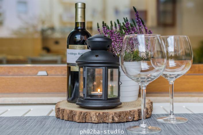 vino bicchiere lanterna homestaging