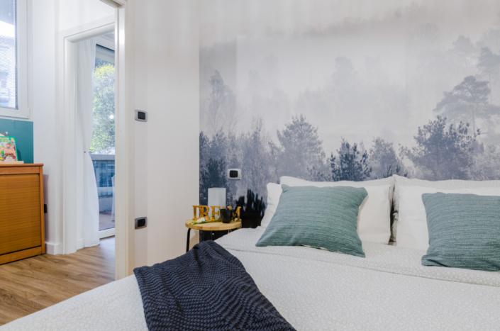 letto airbnb homestaging cuscini