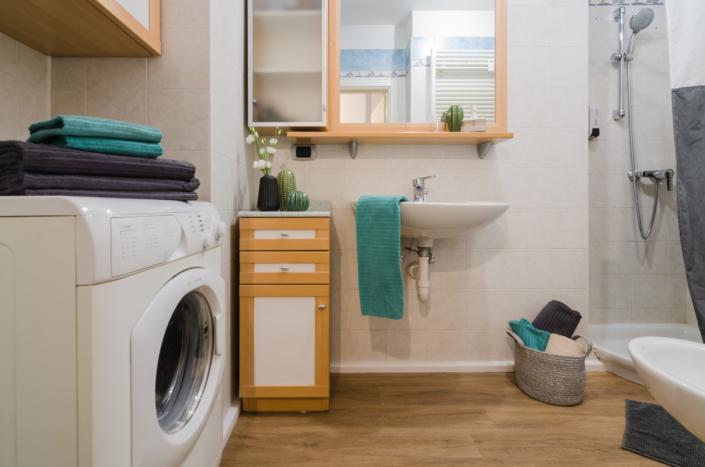 bagno lavatrice appartamento turistico