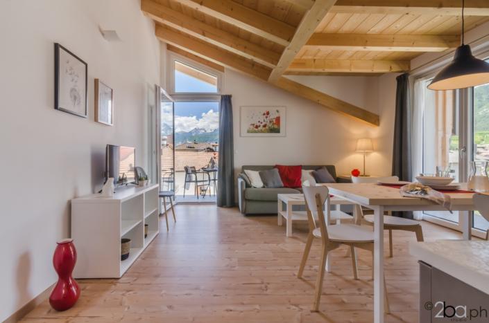 casa di montagna legno mansarda vacanza affitti brevi valle di non