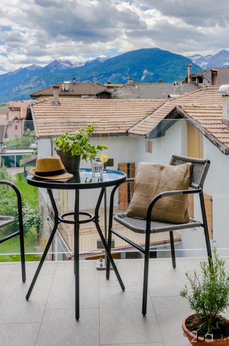 casa vacanze montagna balcone vista Dolomiti di Brenta